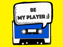 Make your messages a little bit vintage and funny, with animated cassette stickers