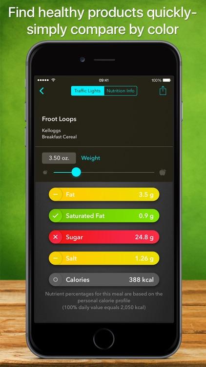 Traffic Light Calorie Info screenshot-0