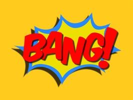 Bang! Comic Book Stickers