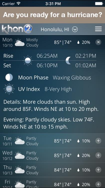 KHON2 WX - Radar & Forecasts screenshot-4