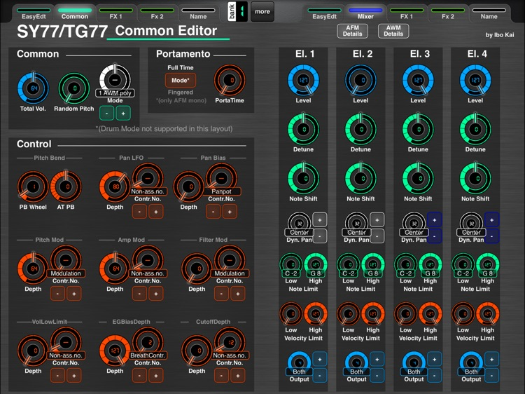 MD77: Voice Editor for Yamaha SY77/TG77 by Ibo Kai screenshot-1
