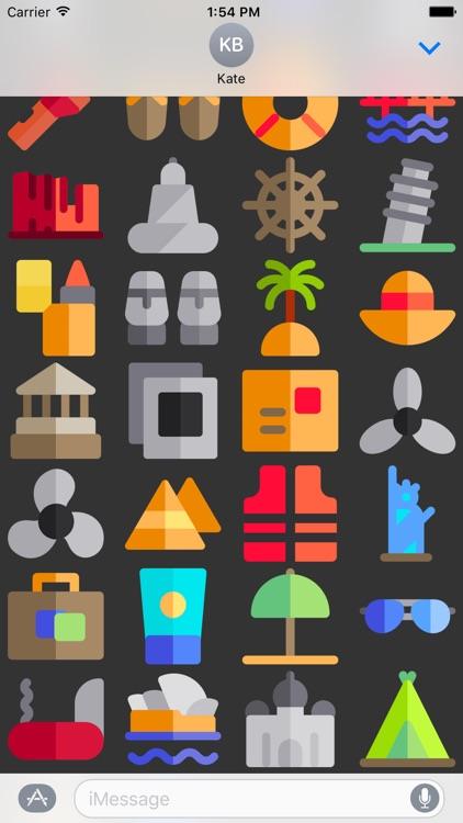 Travel Stickers - Places Emojis for iMessage App