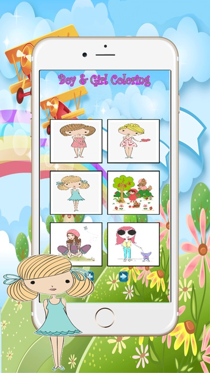Cartoon Kid color easy kid games 4 yr old girls by Natthaya Sutthitham