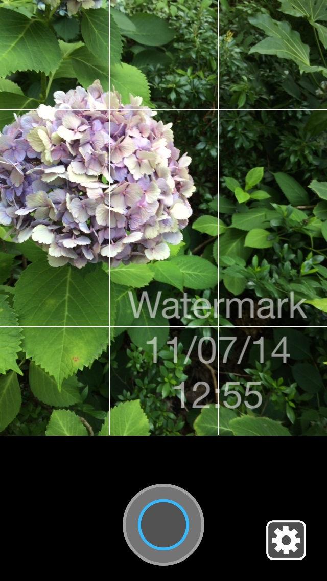 文字カメラ - 写真へ透かし文字や日付、メッセージを入れよう - ScreenShot0