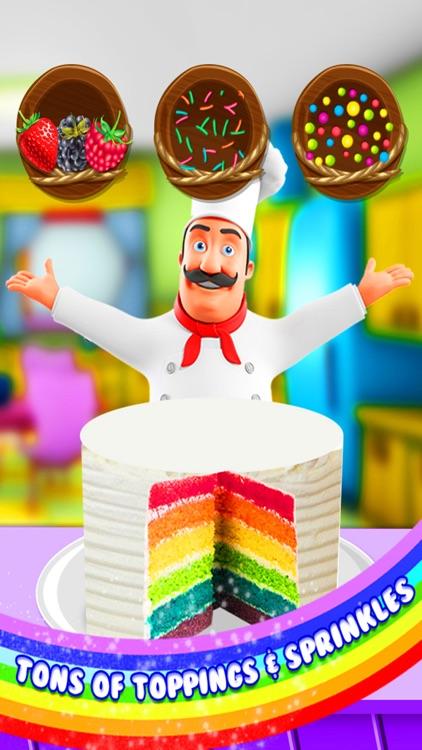 Rainbow Cake Maker - Cooking Rainbow Birthday Cake screenshot-3