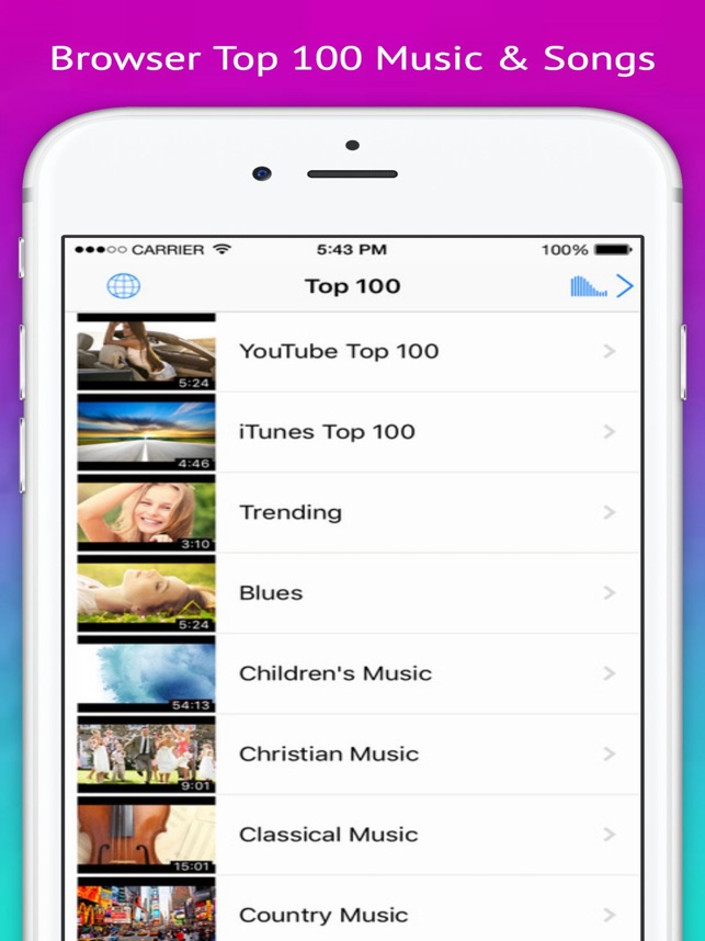 Play Video - Music Tube & playlist for youtube Screenshot