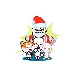 Santa & His Pet Friends - Christmas Time Stickers