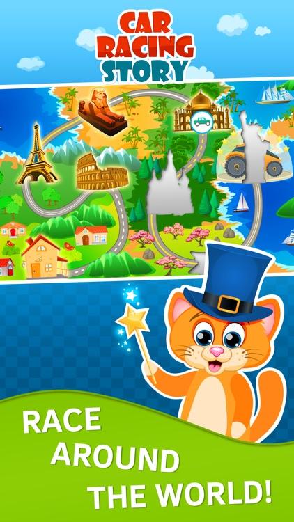 Toddler Racing Car Game for Kids. Premium screenshot-3