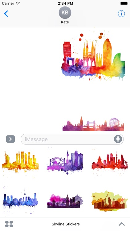 Skyline Stickers For iMessage