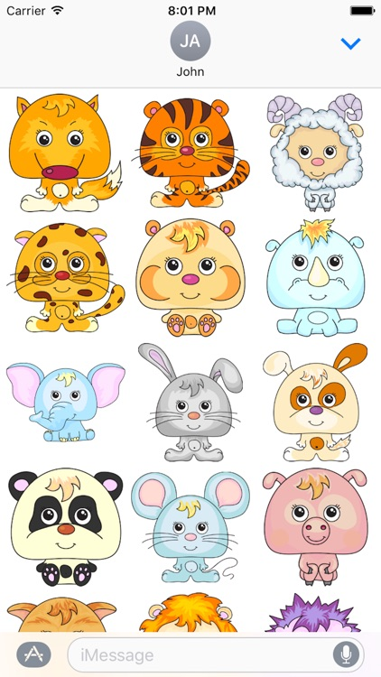 Animal Funny Sticker Pack 02