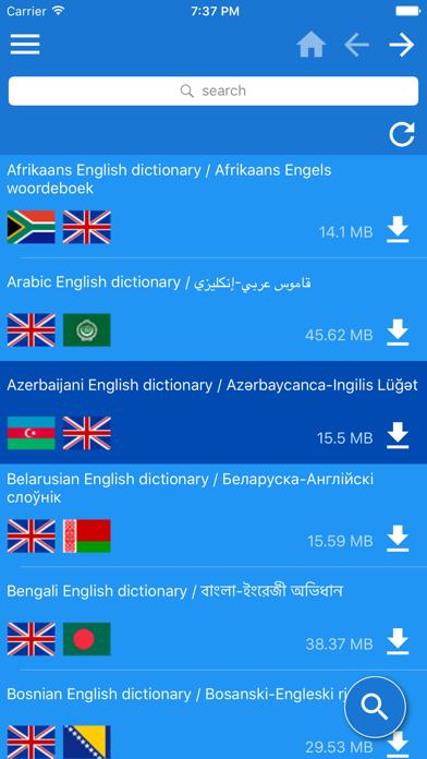 English Multilingual dictionary
