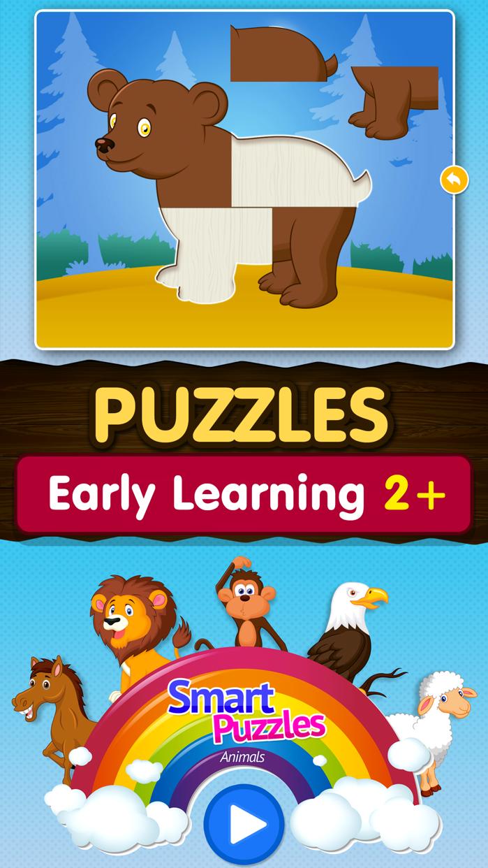 Kids Animal games-SmartPuzzles Screenshot