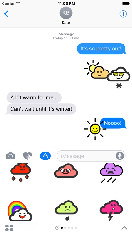 WeatherKins | Kawaii Weather Emoji screenshot-3