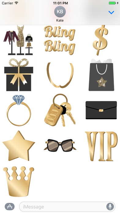 Bling Bling animated Stickers