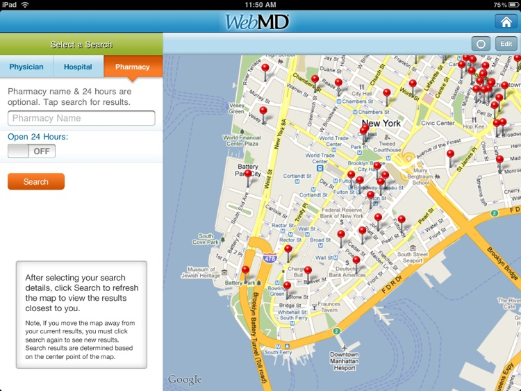 WebMD for iPad screenshot-3