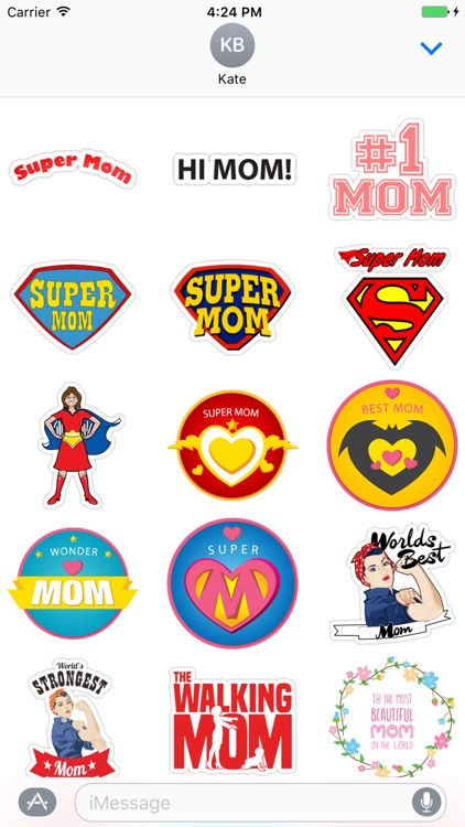I love my Mom - stickers for iMessage