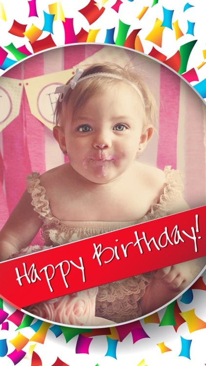 Happy Birthday Cards Frames Photo Editor Screenshot 2