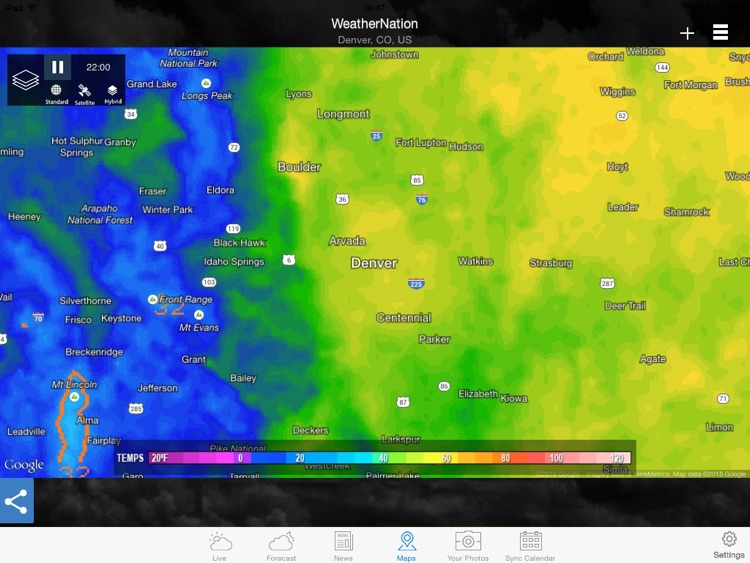 "WeatherNation Free ""for iPad"" screenshot-3"