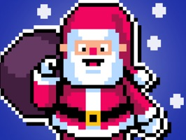 Merry Pixel Stickers