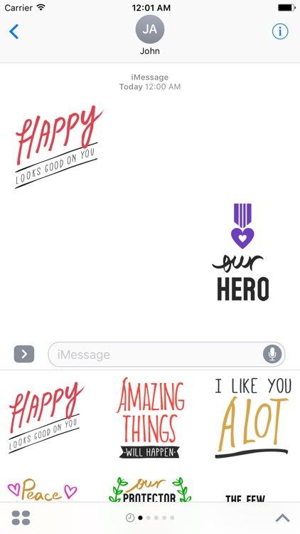 QUOTEs III Stickers for iMessage