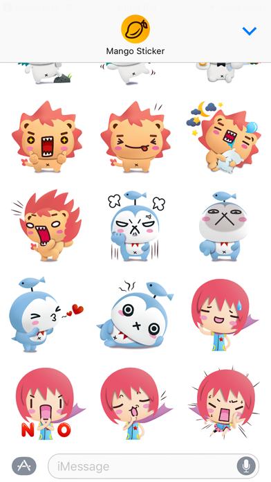 パンダドッグ & フレンズ 3D (Pandadog) - Mango Stickerのスクリーンショット3