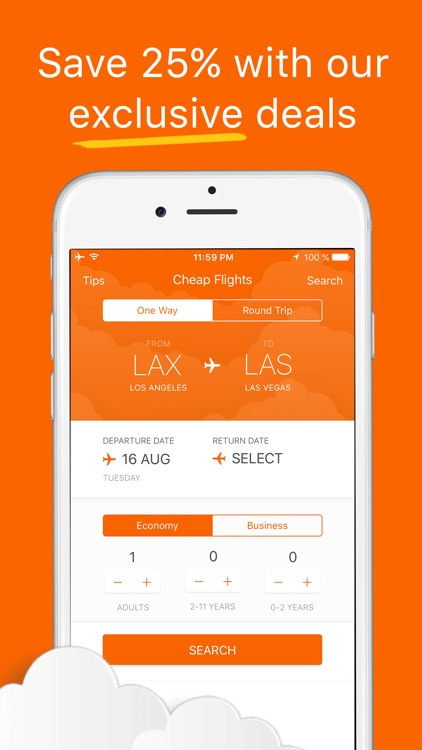 Cheap Flight Bookings - Air Tickets, Cheapest Exclusive Airfare & Online Sale screenshot-0
