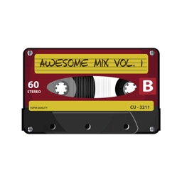 Cassette Tape Stickers - Retro Emoji and Texts