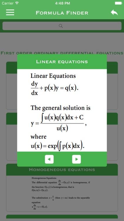 Formula Finder