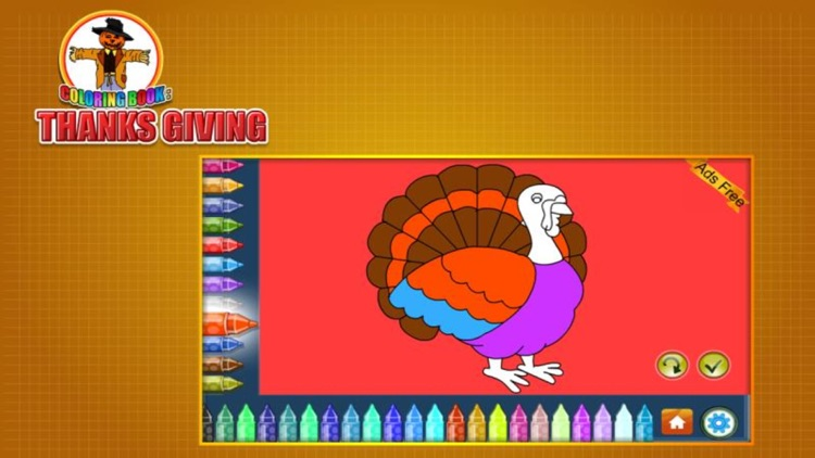 Coloring Book Thanks Giving