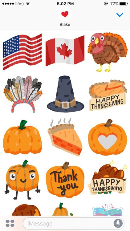 Thanksgiving Day Stickers Pack