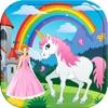 公主 填色本 女孩 对于 馬兒童 學習 油漆和顏色的