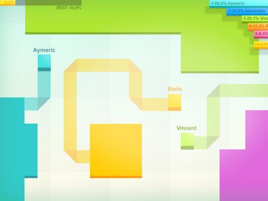 Screenshots of Paper.io for iPad