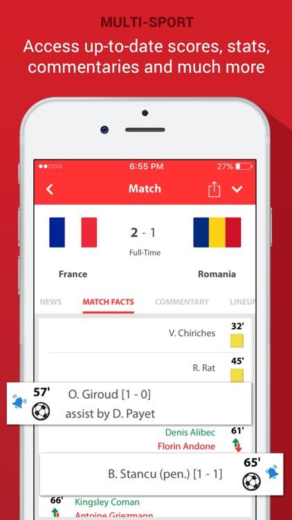 SportOn - Live Scores + Chat