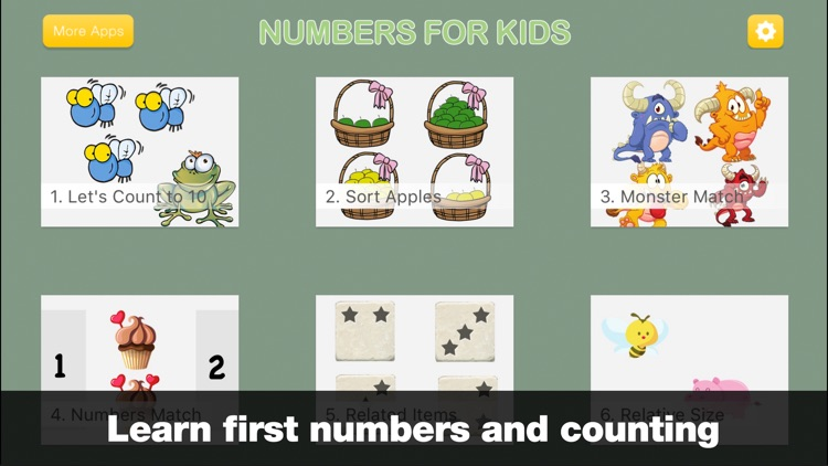 Numbers for Kids - Preschool Counting Games