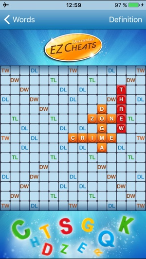 Words with friends solo challenge cheat