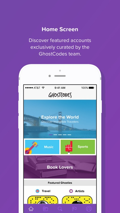 GhostCodes - a discovery app for Snapchat