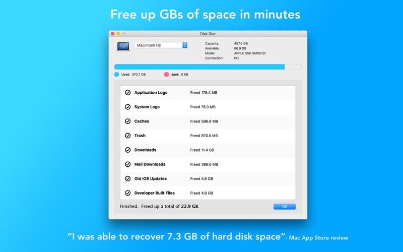 Screenshot #2 for Disk Diet - Free up GBs