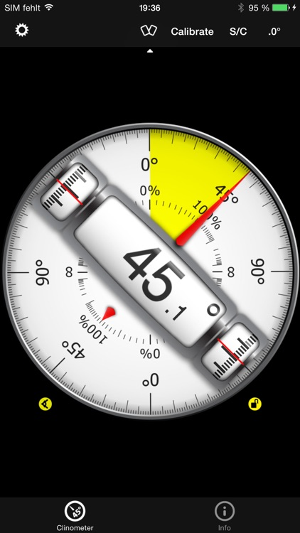 Clinometer + bubble level + slope finder (3 in 1)