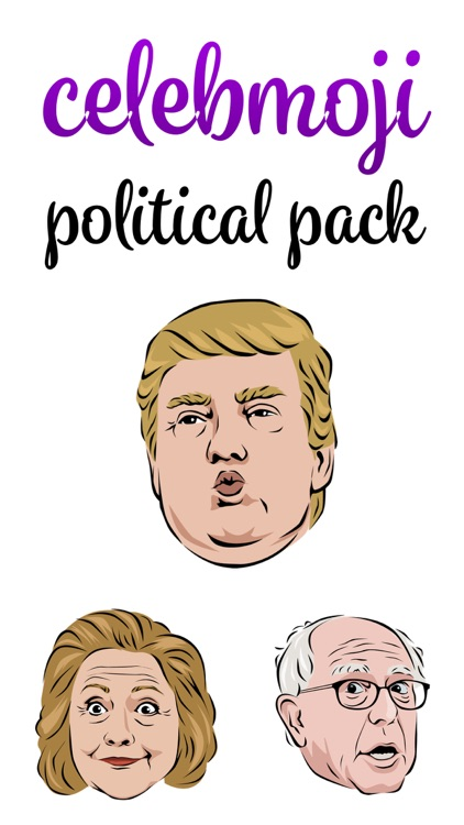 Celebmoji Politics Stickers–Trump, Clinton, Obama screenshot-4