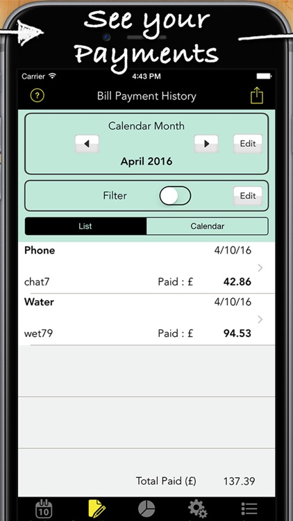 Bill Assistant Pro - Tracker & Reminder screenshot-3