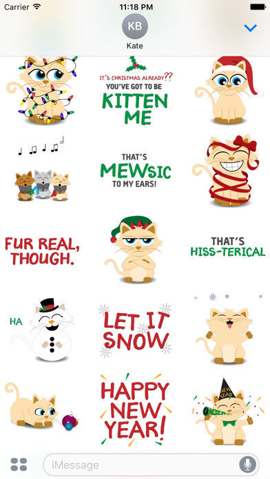 Christmas Kitties Sticker Pack screenshot three