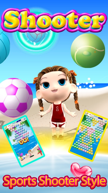 Bubble Shooter Beach Sports Girl