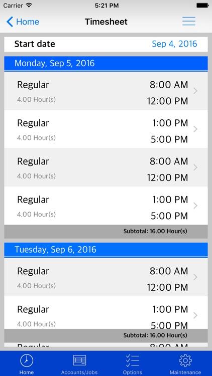 PayCalc Timesheet screenshot-3
