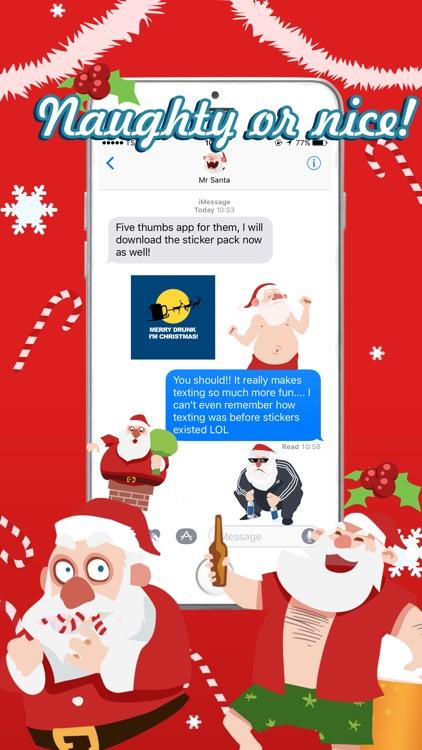 Shocking Santa - Santa Claus Gone Bad Stickers screenshot-3