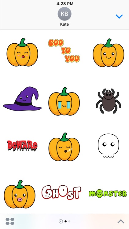 Spooky Halloween Stickers Pack for iMessage screenshot-3