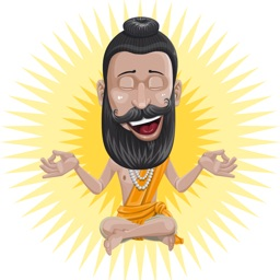 Raj the Guru Stickers - The Hindu Spiritual Master