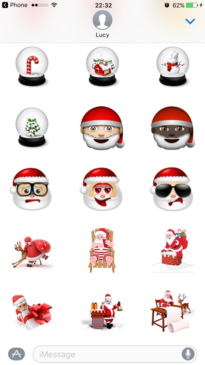 Christmas Stickers Santa Pack for texting screenshot-3