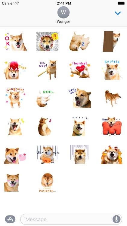 Pretty Dog Stickers Smile