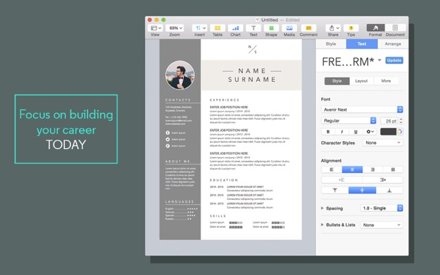 High Quality ITunes   Apple  Pages Resume Template