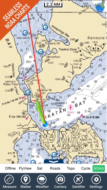 Boating Alaska North West GPS maps fishing charts